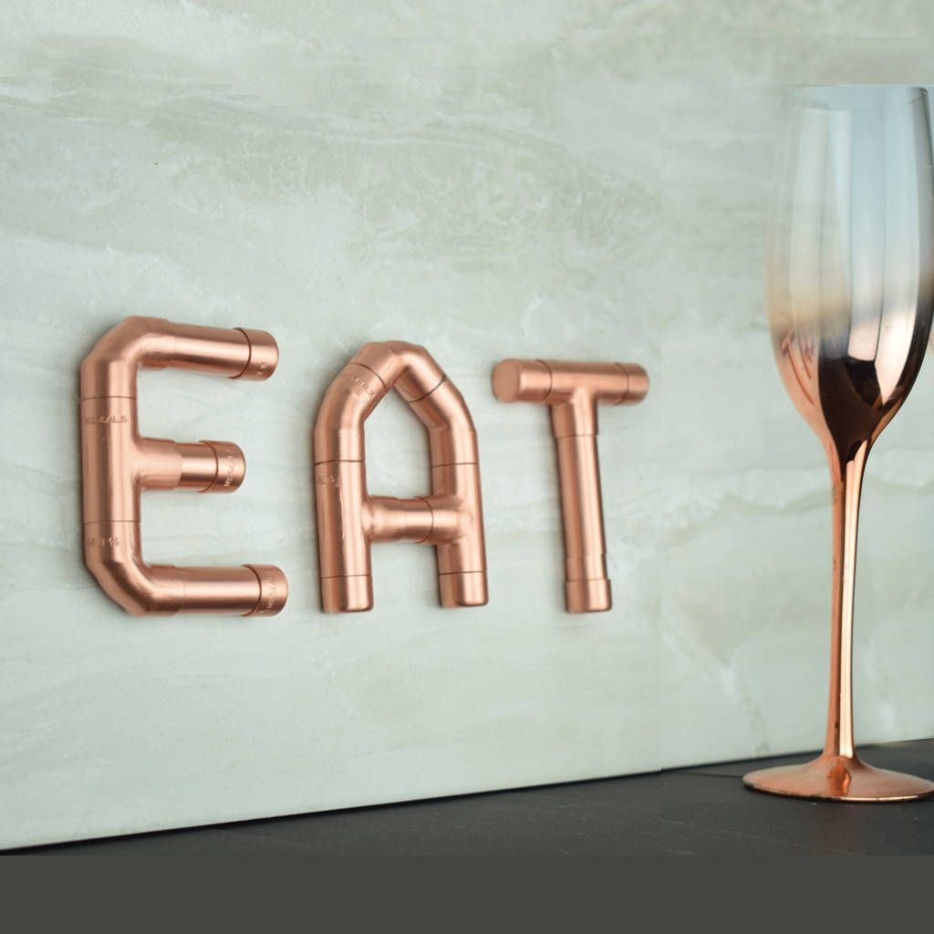 Glass Letters For Wall Eat' Copper Letters  Kitchen Letters Eat Sign And Letter Wall
