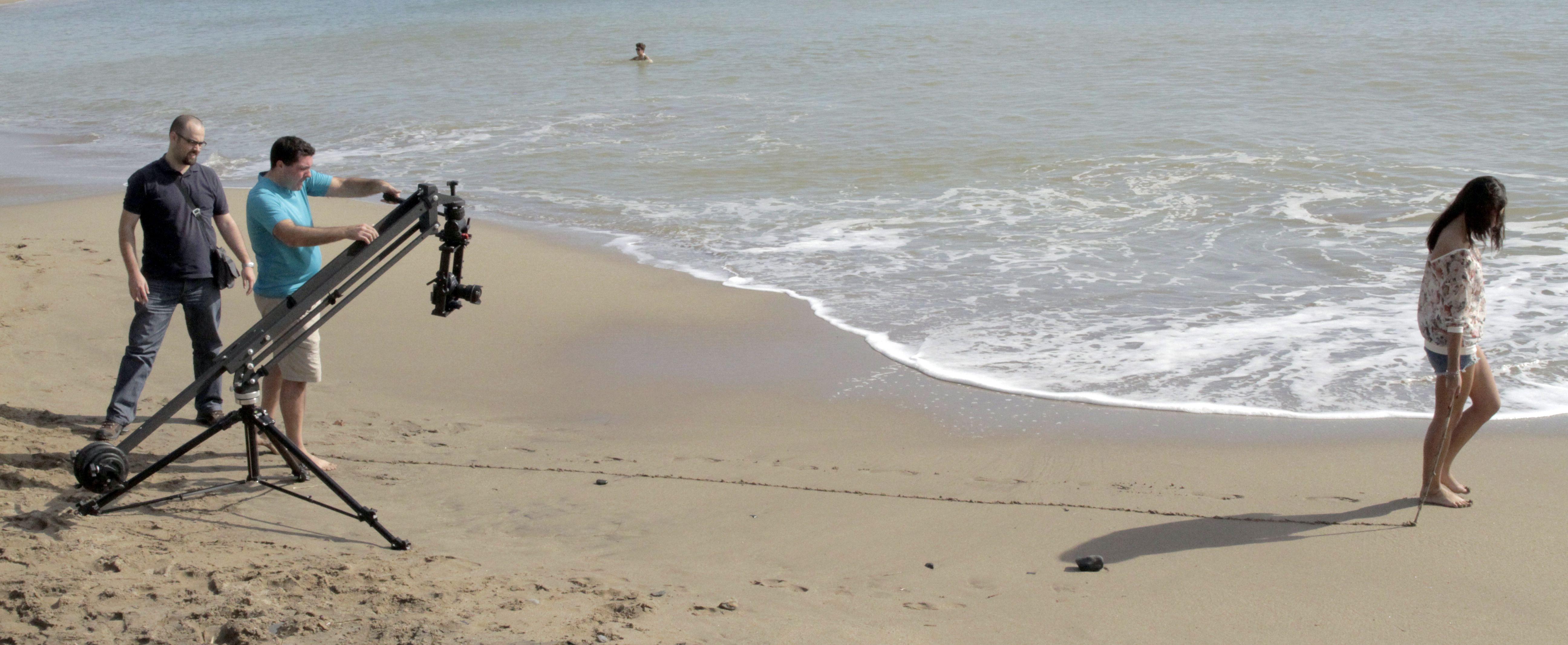 Rodando en la playa