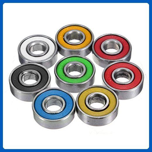 Fabal Hybrid Ceramic 608 Inline Skate Bearing 608 Ball Bearings For Fidget Spinner Random Color Fidget Spinner Skateboard Roller Skate Wheels Fidget Toys