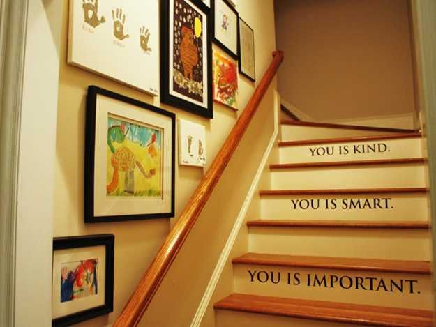 Decorating With Words 11 wooden stairs making colorful centerpieces for interior
