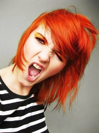 Dyehard Hayley Williams rocking some Psychedelic Sunset!  #manicpanic #psychedelicsunset #orangehair #dyedhair #dyedhairdontcare #celebritydyehard