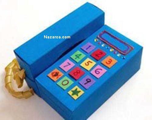 Selpak Kutusundan Oyuncak Ahizeli Ev Telefonu Nasil Yapilir