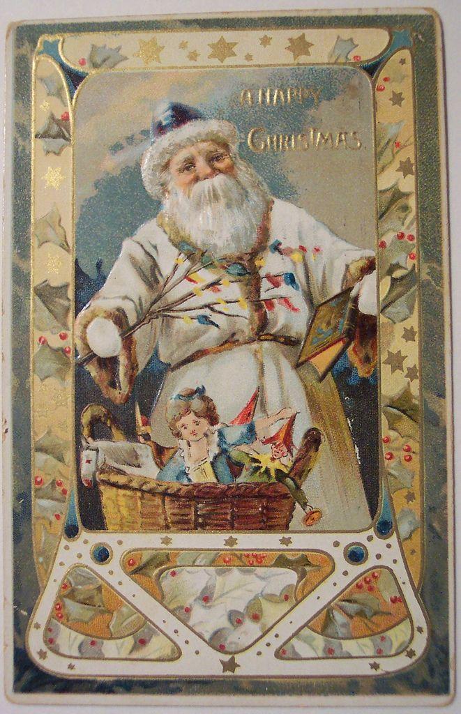 Vintage Christmas Postcard - Santa | Flickr - Photo Sharing!