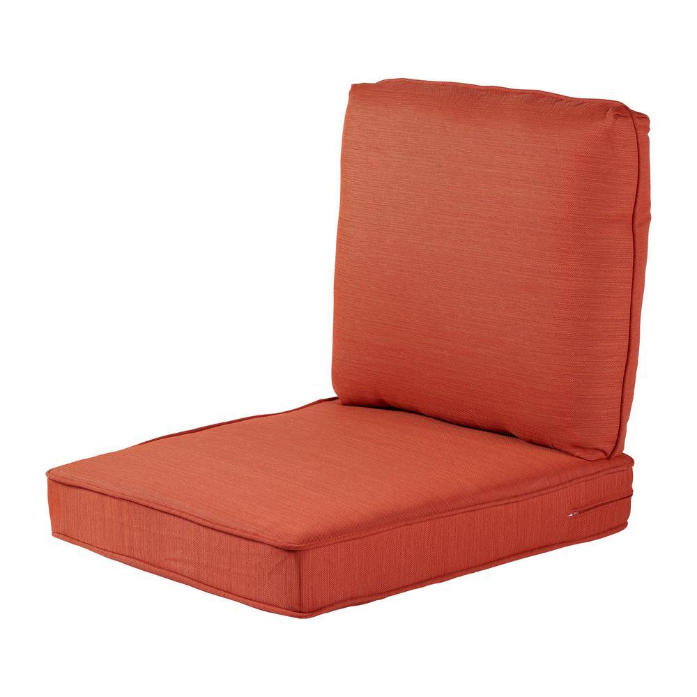 Hampton Bay 23.25 x 27 Outdoor Lounge Chair Cushion in