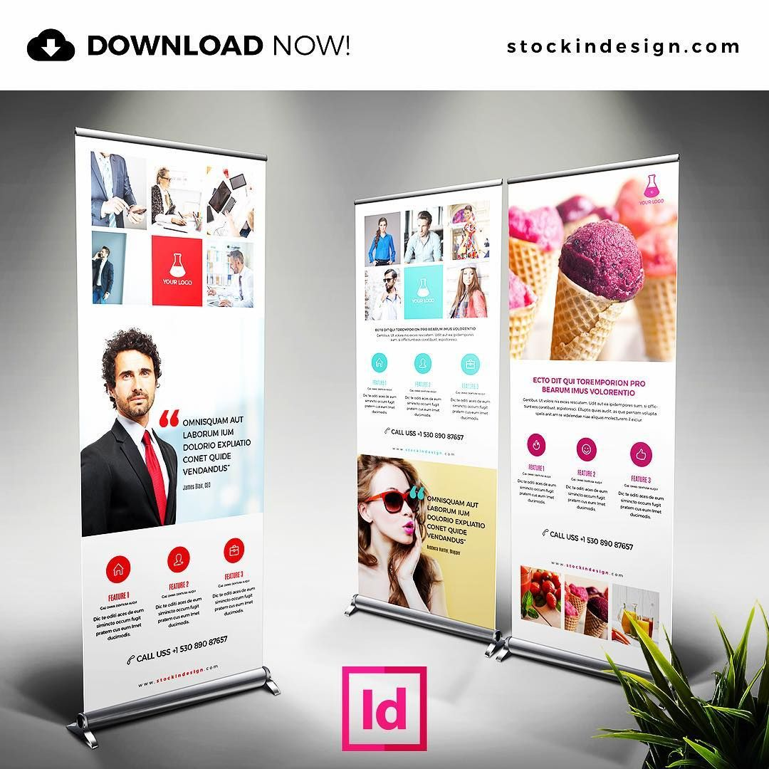 25 Photoshop Indesign Magazine Cover Templates: DOWNLOAD NOW! 🆔 Banner Roll-Up: InDesign Template