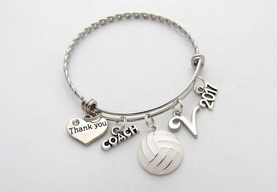 Volleyball Bracelet Volleyball Coach Gift Coach Jewelry Etsy Coaching Volleyball Coach Gifts Volleyball Coach Gifts