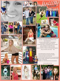 Image result for yearbook senior page layout template | Yearbook