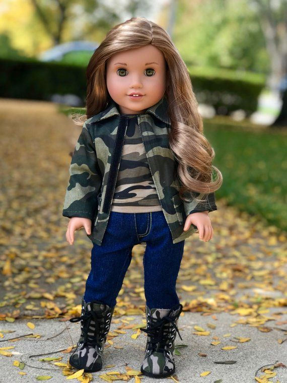 Military Style Doll Clothes for 18 inch American Girl Dolls | Etsy #18inchdollsandclothes