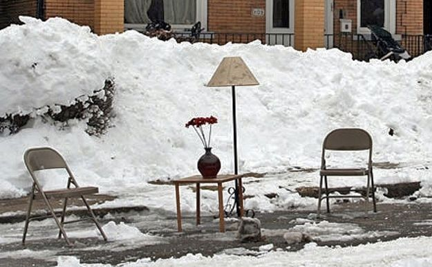 The 20 Most Pittsburgh Things That Ever Happened - like the time someone  opted living room set to save their parking spaces 6ec705b73