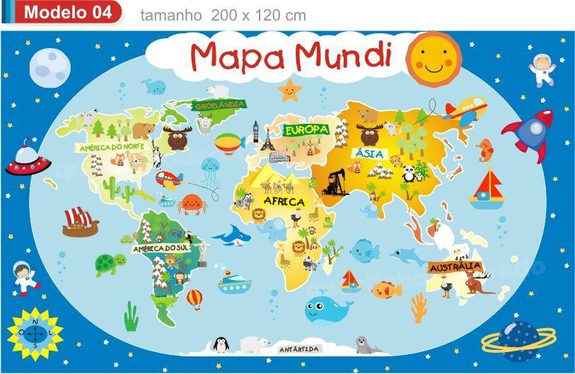 Mapa Mundi Infantil Mod 4 Mapa Mundi Infantil Mapa Mundi