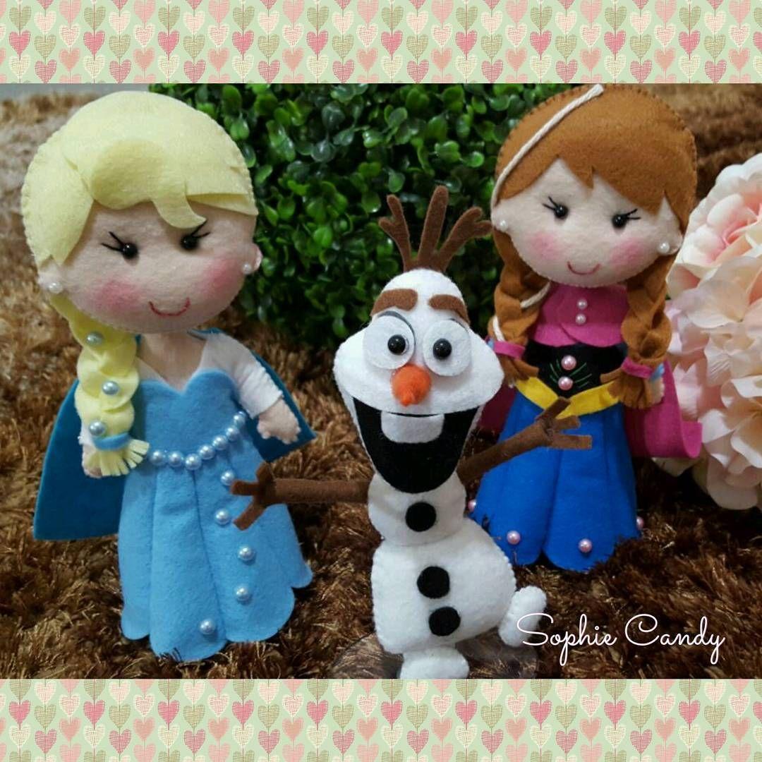 """88 curtidas, 3 comentários - Ateliê Sophie Candy 💕 (@ateliesophie_candy) no Instagram: """"Você quer brincar na neve? ❄⛄ Kit Frozen Elsa, Anna e Olaf ❤❤❤ Muito, muito amor por eles!  By…"""""""