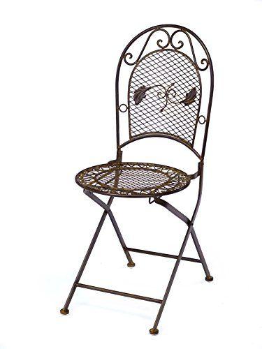 Spectacular Nostalgie Gartenstuhl kg Schmiedeeisen Klappstuhl Stuhl antik Stil braun Eisen aubaho