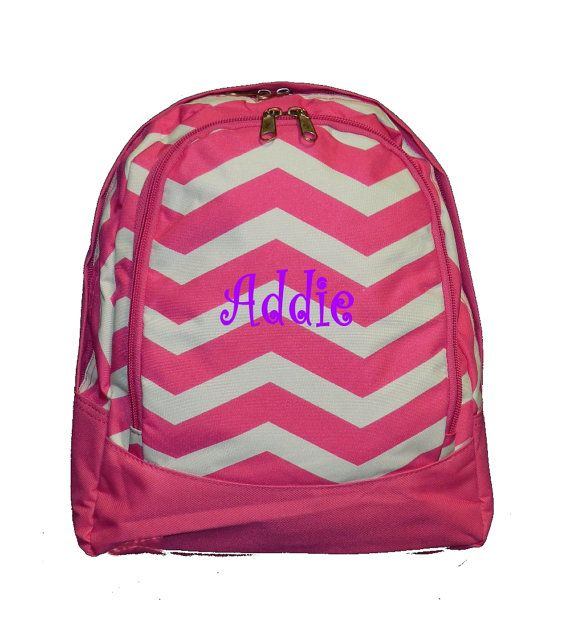 Personalized TODDLER Chevron Backpack  by MauriceMonograms on Etsy, $23.00