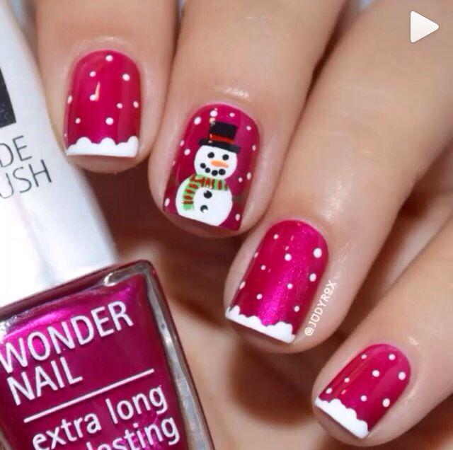 Snowman Nails Christmas Winter Nail Designs Pinterest