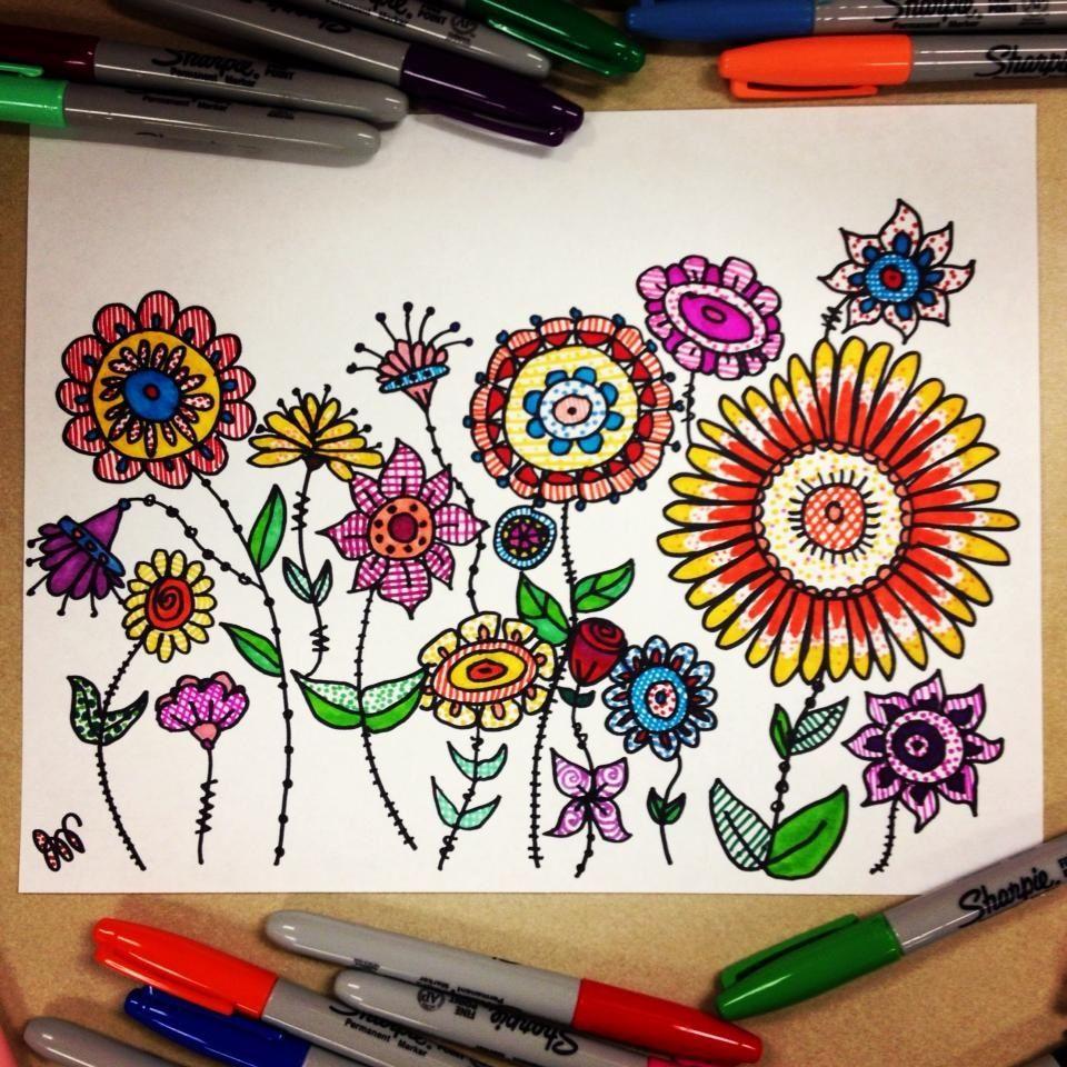 A Garden of Sharpie Doodle Flowers (OC) - Imgur | Doodles ... Sharpie Art Flowers