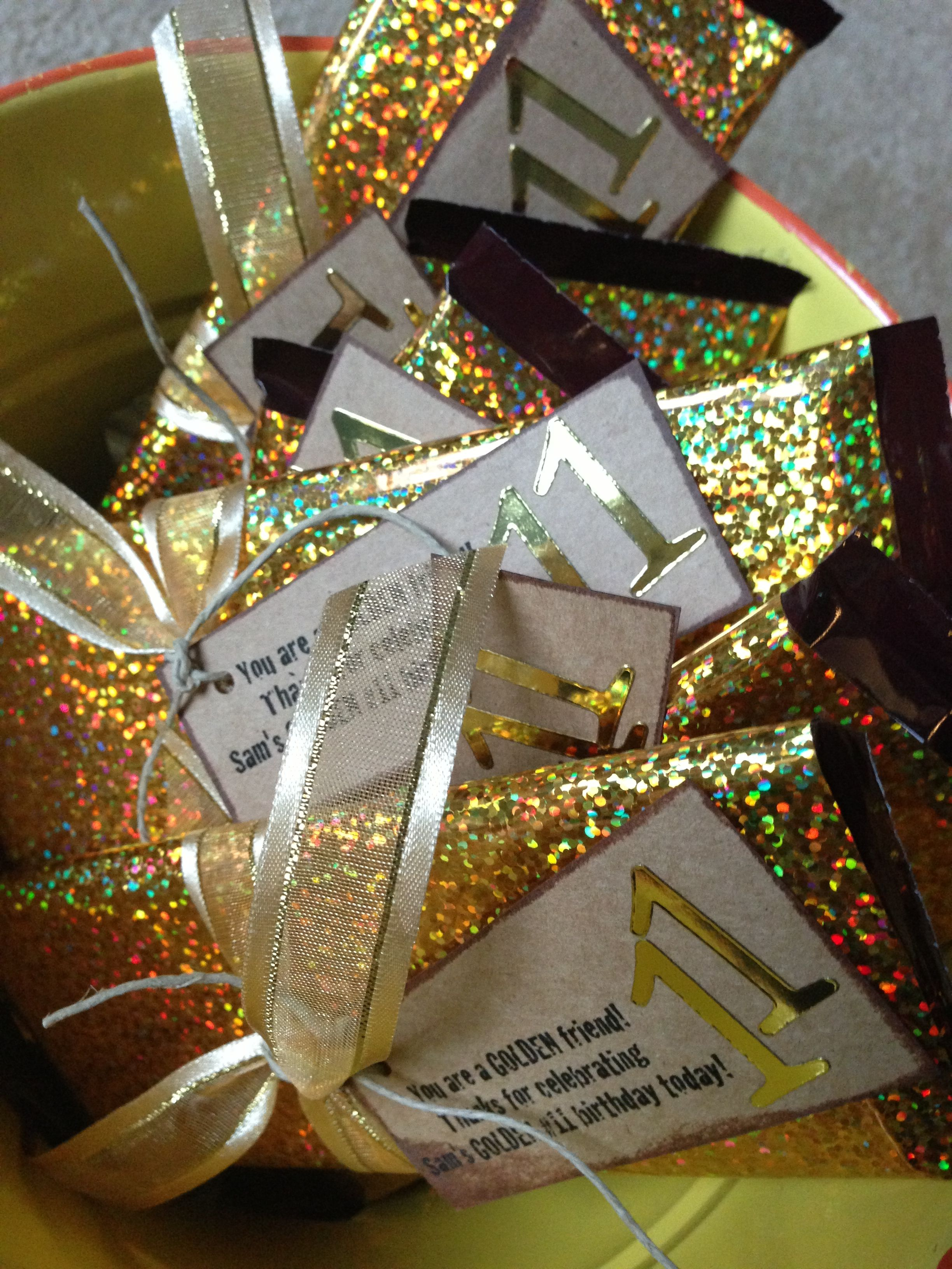 Graduation party favors | Golden birthday candy bar favors | Black ...