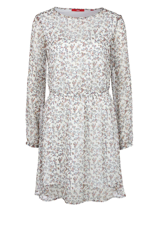 Crêpe-Kleid mit Allover-Print von s.Oliver. Entdecken Sie ...