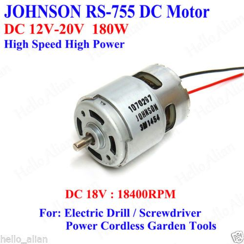 Mabuchi rs 755wc 8017 dc 12v 18v 25200rpm high speed power for Quality motors independence ks
