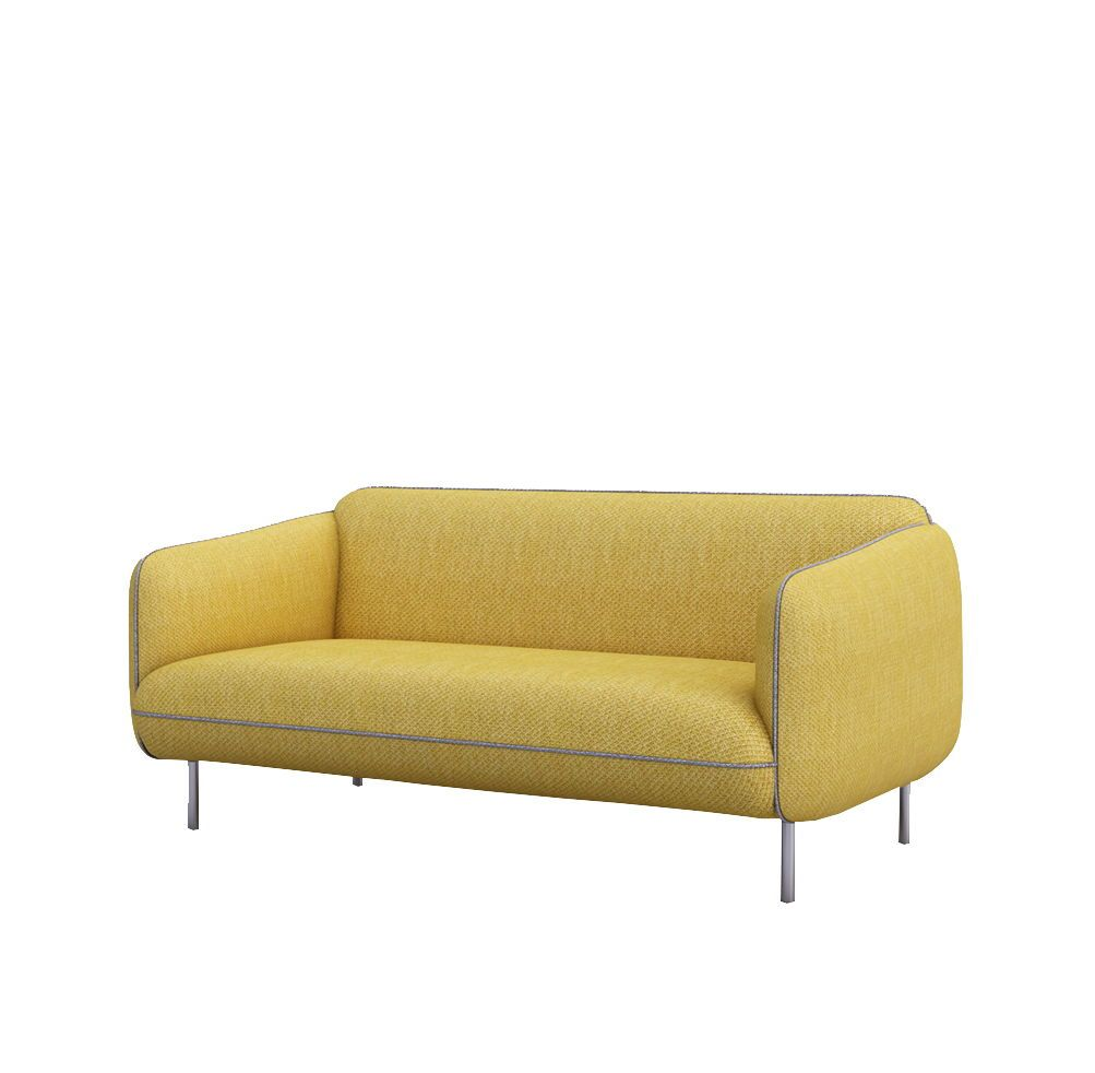 Nordic Style Sofa Yellow W1580 D860 H730 Seat Height 420 Metal
