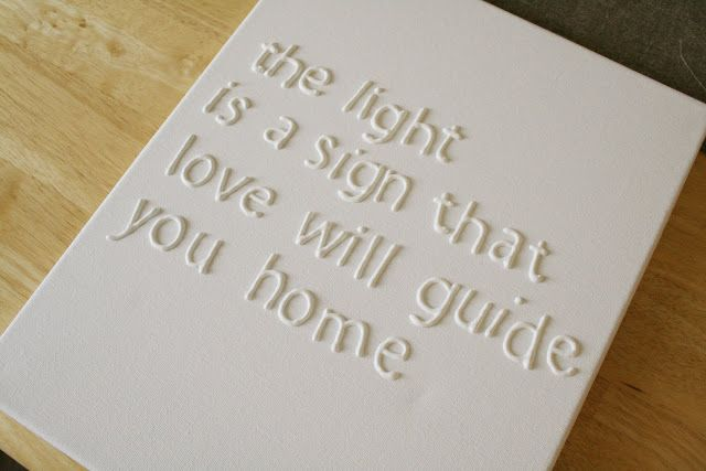 print your text trace on wax paper using puffy paint transfer