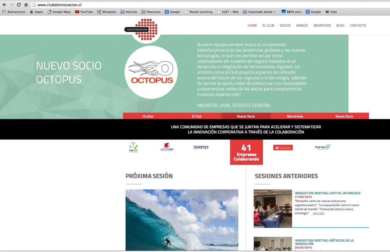 @Octopuschile ahora es socio del @clubdinnovacion