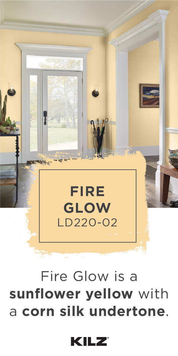Bringing A Breath Of Fresh Air To This Traditional Front Entryway Kilz Complete Coat Paint Colors For Living Room Paint Colors For Home Yellow Bedroom Paint