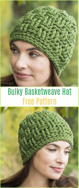 b62292ac4cde1 Crochet Boliviana Bulky Basketweave Hat Free Pattern - Crochet Cable Hat  Free Patterns