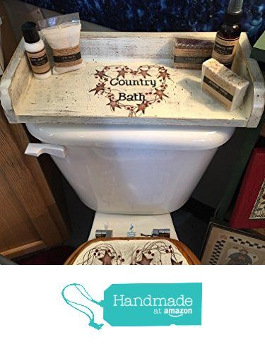 Rustic Country Bath Hand Crafted Wood Toilet Tank Tray Made In Usa Https Www Amazon Com D Primitive Bathroom Decor Primitive Decorating Country Country Baths