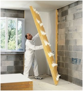 Isolation des murs par l 39 interieur doublage coll for Polystyrene isolation mur interieur