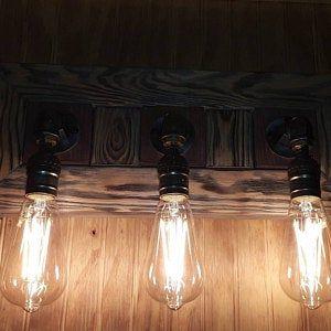 Photo of Bedside lamp, table lamp, wooden lamp, management lamp, rustic lighting, wood lamp base