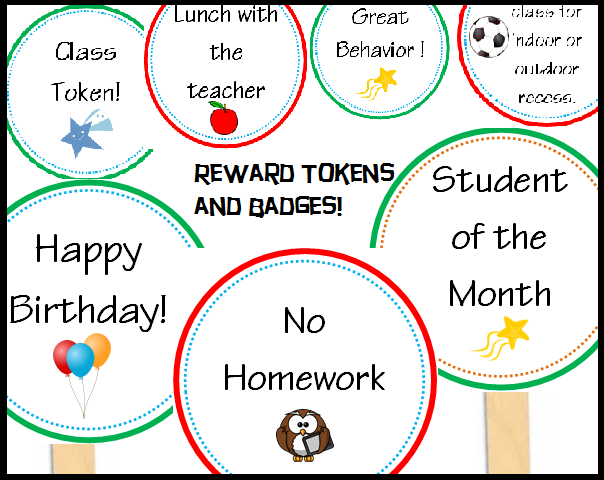 classroom rewards, tokens, and badges for classroom incentives that your students will love! $