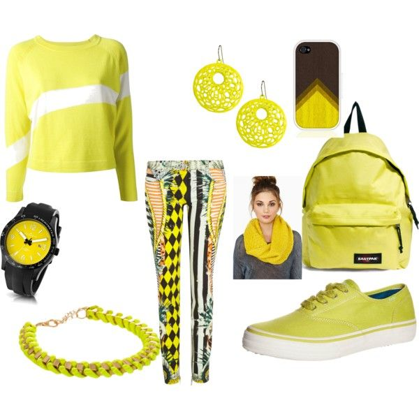 """yellow"" by tronchehilarion on Polyvore"