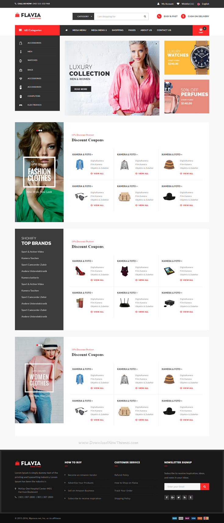 Flavia - HTML5, Bootstrap and CSS3 eCommerce Website Template comes ...