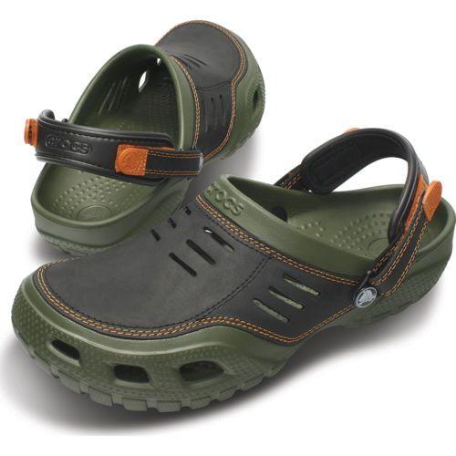 3b9a4439a2ee Crocs-Yukon-Sport-Mens-Comfortable-Clogs-Army-Green-Black-Color ...