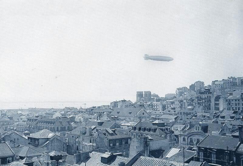 Zeppelin sobre Lisboa