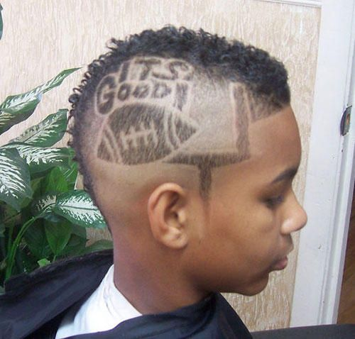 Crazy Hairstyles Crazy Funny Haircuts Football Kid