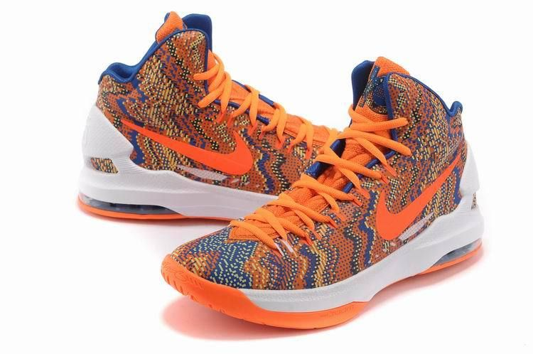Nike Zoom KD Women Shoes New Graphic Pattern Orange Womens Basketball Shoes