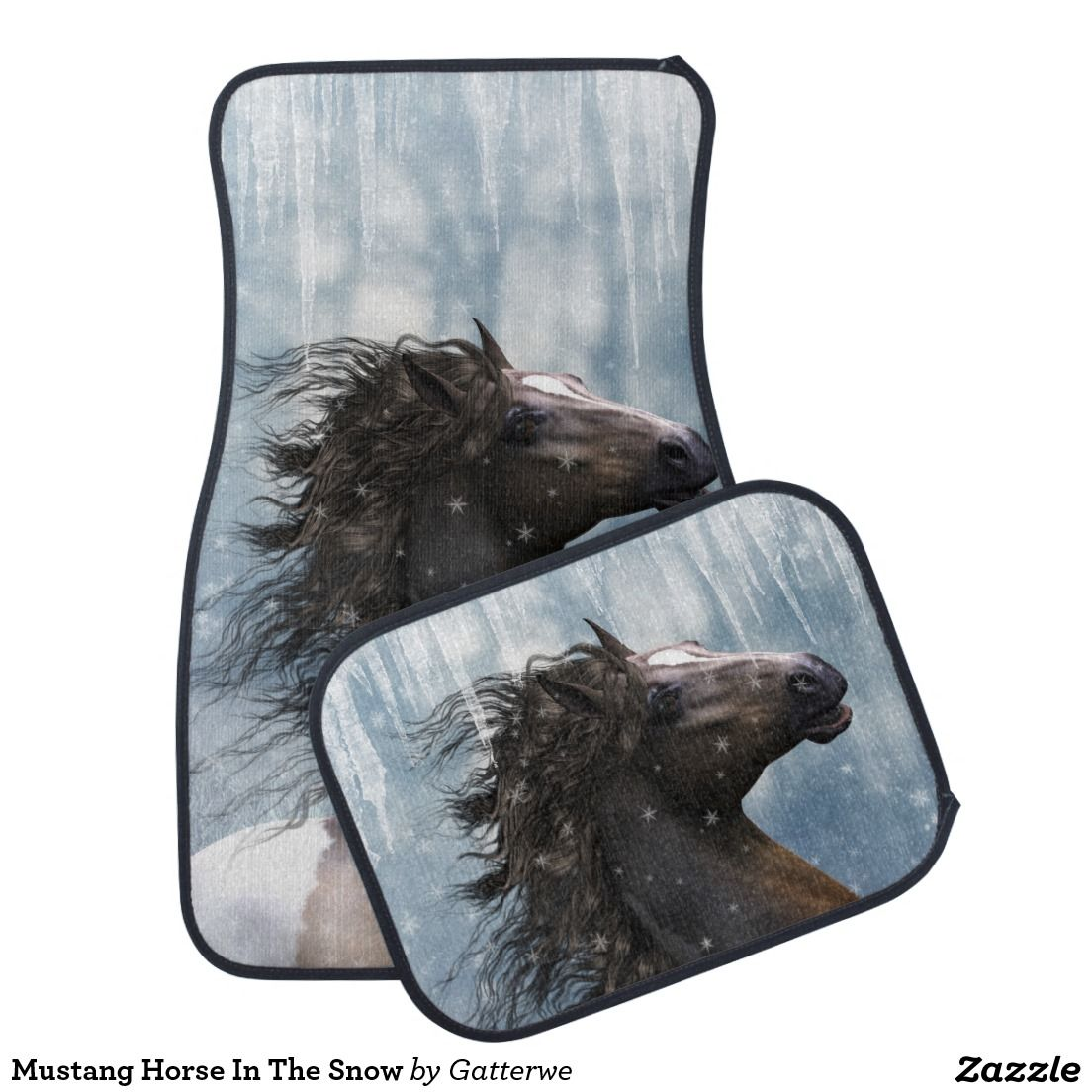 Mustang Horse In The Snow Car Floor Mat More Cars Ideas