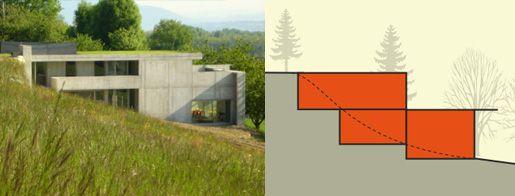 maison contemporaine sur terrain en pente | MAISON & PENTE ...