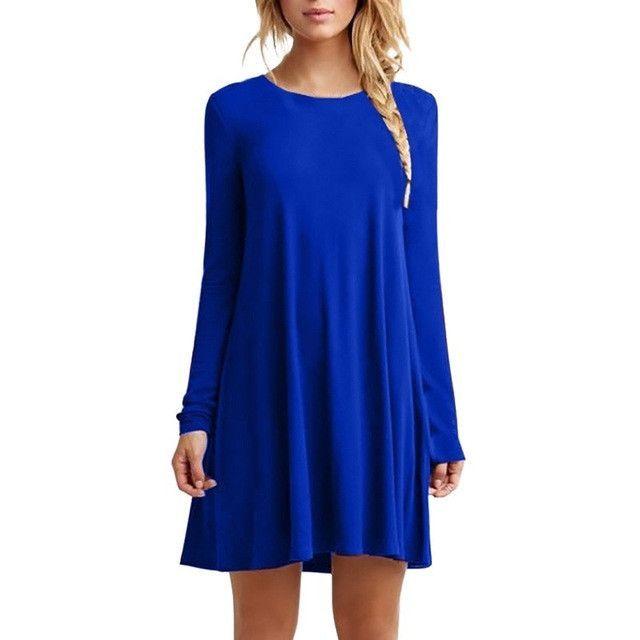 Women Fashion Comfortable Casual Mini Dress   Products   Pinterest 005755f010