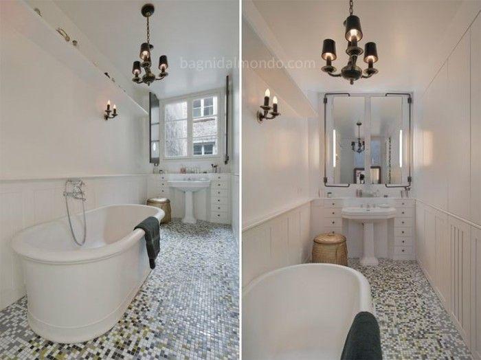 Specchio da bagno   soluzioni per posizionare il mobile sotto la ...