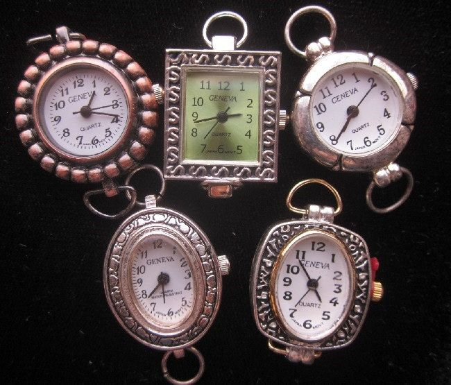 Five Geneva Watch Movements for Jewelry Making.  Never Used.  PatriciaInExcess S 451 by PatriciaInExcess on Etsy