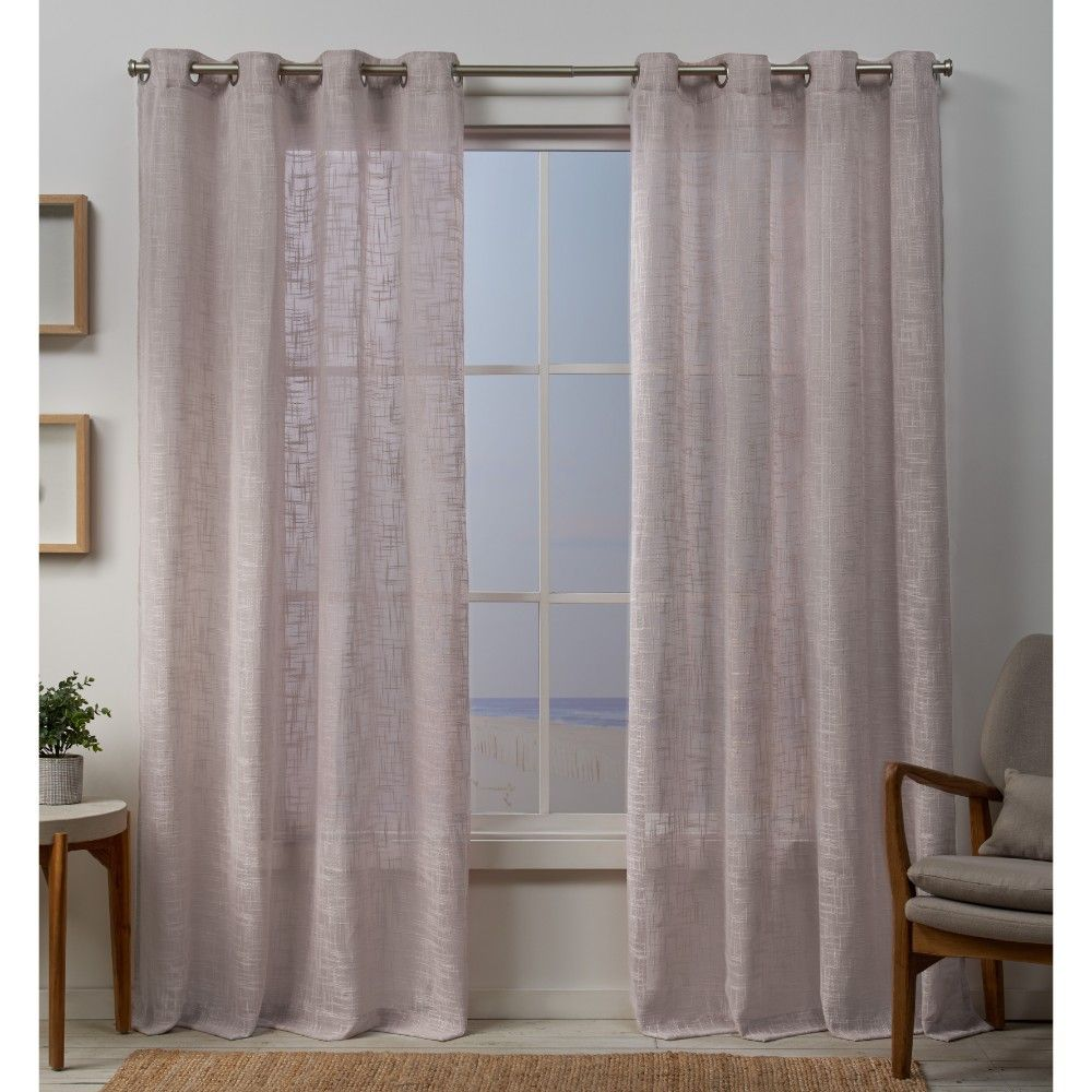 Ein einfaches küchendesign curtain panels exclusive home blush pink solid in   products