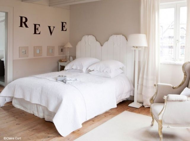 Chambre romantique stickers d co maison pinterest for Maison romantique
