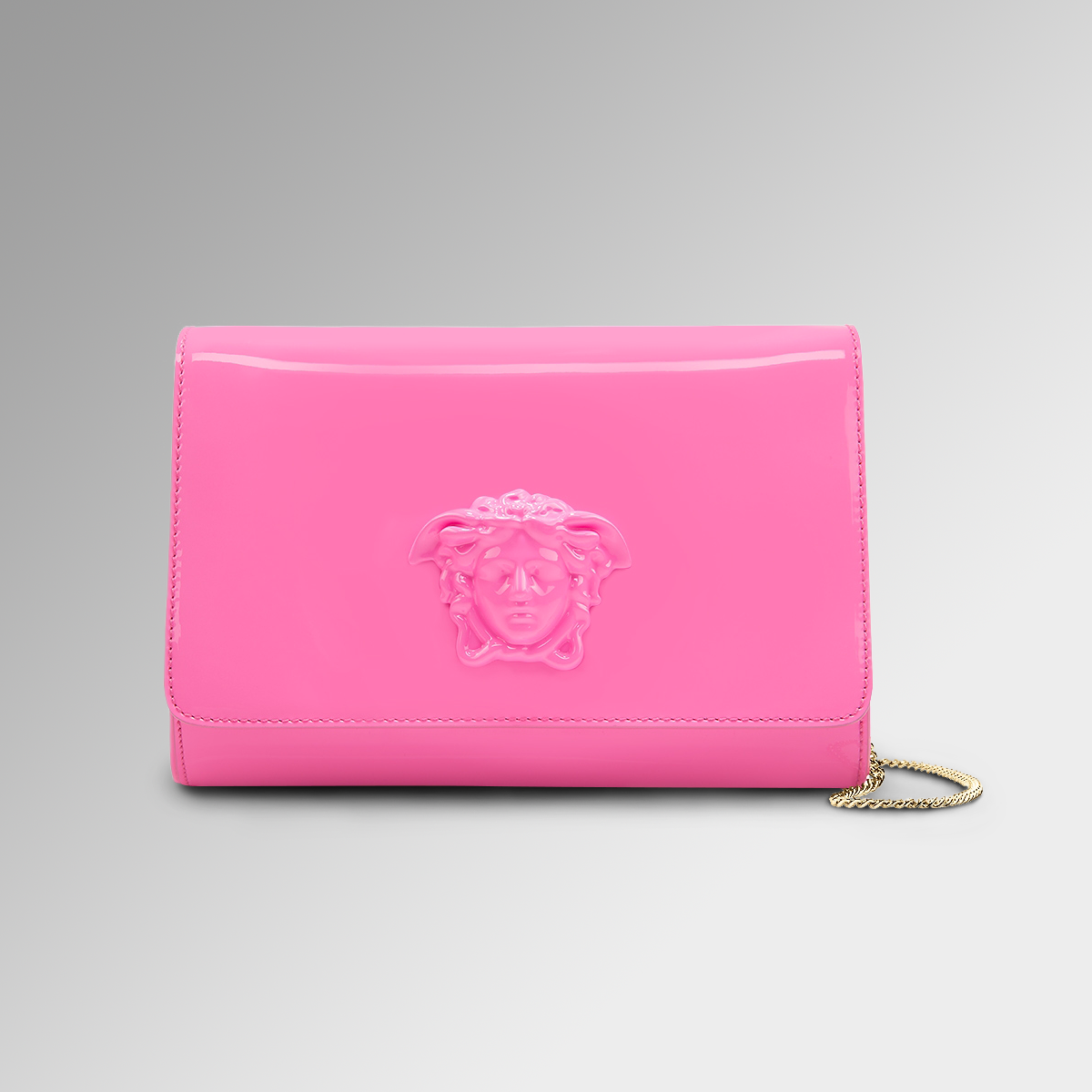 52c8b5640391 Pink attitude for this  VersacePalazzo bag. Discover more about the  Versace  Women s Pre