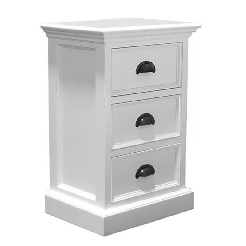 Whitehaven Mahogany Small 3 Drawer Chest / Bedside Cabinet