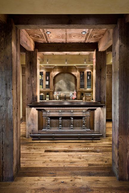 Home bar job 39 s peak residence by locati architects wine rooms and bars rustic home rustic - Residence de luxe montagne locati ...