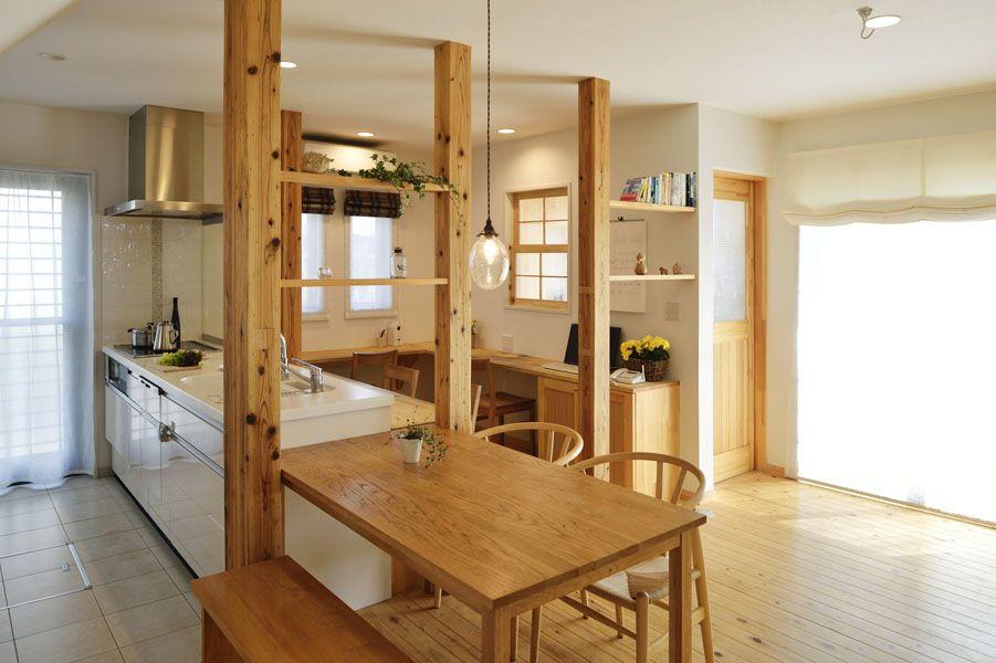 Lohas Studio キッチン 台所 Kitchenのリフォーム リノベーション おしゃれまとめの人気アイデア Pinterest Lohas Studio ロハススタジオ 公式 自宅で リビング 柱 キッチンパントリーのデザイン