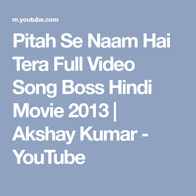 boss hindi film video songs download