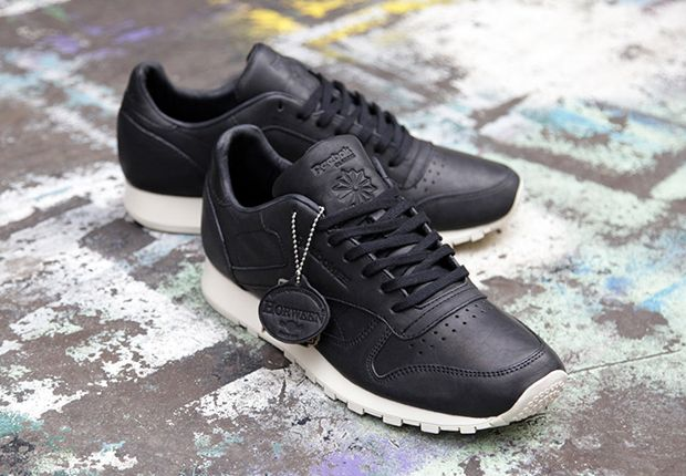 Horween x Reebok Classic Leather Lux - Black • KicksOnFire.com